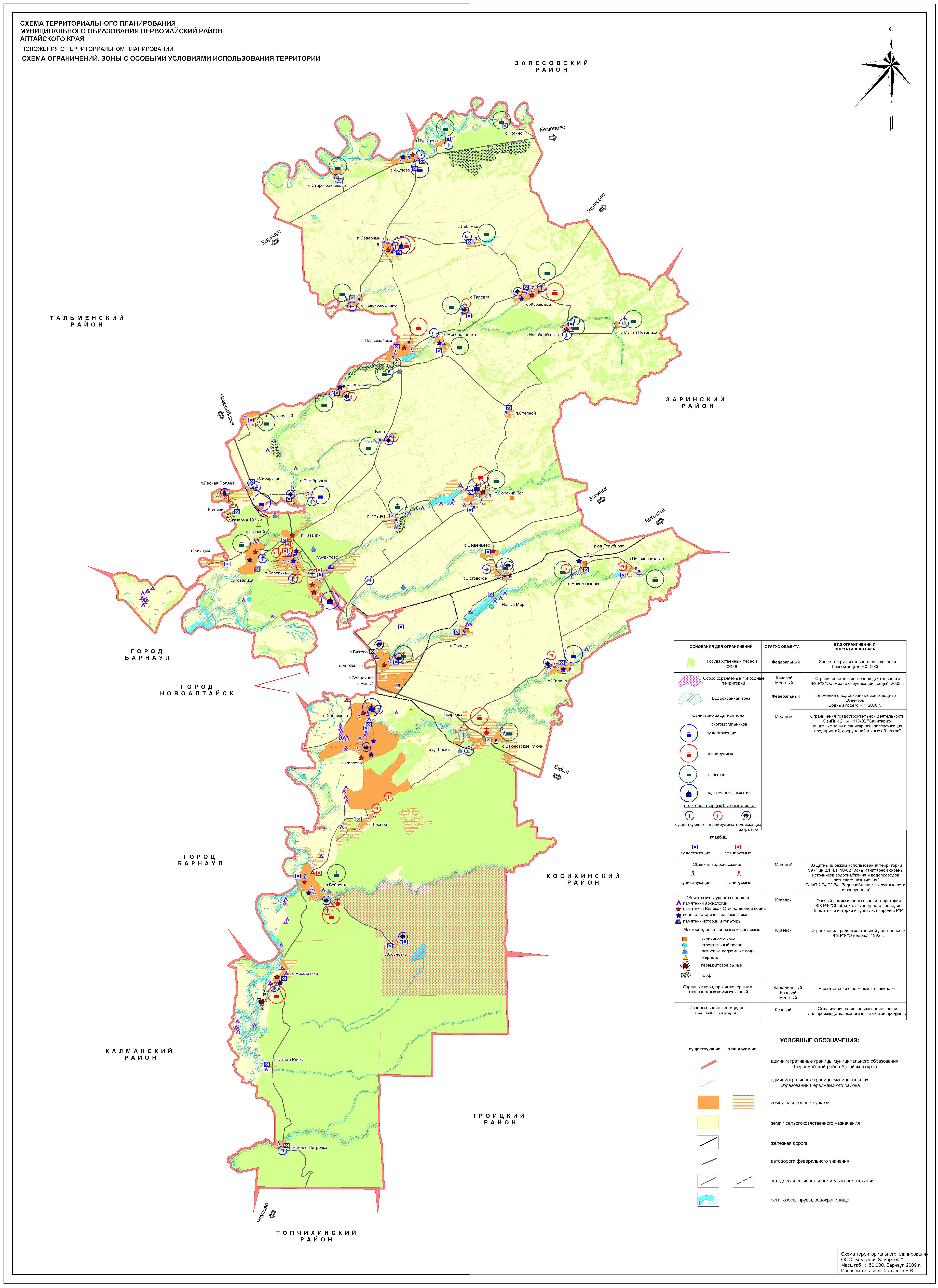 Схема территориального планирования муниципального района алтайского края